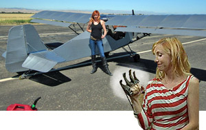 Entirely Covered In Duct Tape Kari Byron Shows The Claw She Used To Trash Original Belite Covering Photo By Permission Of Aircraft