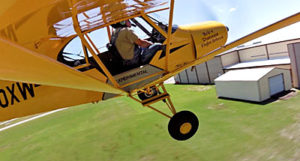No, he's not going to fly into the hangar... you hope, but Greg Koontz's airshow act keeps you wondering.