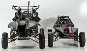 SkyRunner has evolved significantly. The current version is on the left; the original prototype is on the right. Size, seating, power plants, instrumentation, wing, chassis... nothing is the same.