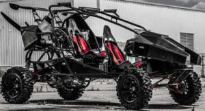Even without a wing above, SkyRunner is one gnarly, exciting machine, an ATV on steroids.