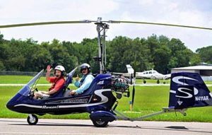 Taxiing out for takeoff with instructor Greg Spicola at the Zephyr Hills, Florida airport. photo by Amy Saunders of Evolution Trikes