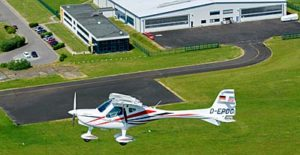 GXiS flies over the Pasewalk, Germany factory producing the highly upgraded Light-Sport Aircraft. all flight photos courtesy Remos