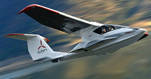 Icon was awarded a weight increase for their A5 seaplane; they will fly at 1,510 pounds. photo courtesy Icon Aircraft