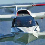 Icon A5 head-on inflight