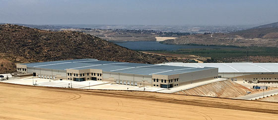 Icon's new Tijuana factory-aerial view