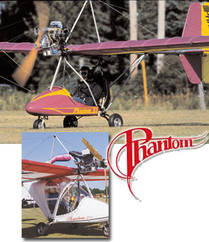 I've just updated a review of the Phantom X-1 (top) for the 11/07 issue of Light Sport and Ultralight Flying magazine. When built carefully to stay within Part (possible even with the 40-hp Rotax 447), it requires no pilot license or medical, no FAA registration, and no LSA airworthiness certificate.