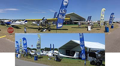 Light-Sport Aircraft Mall at Sun 'n Fun 2017 airshow