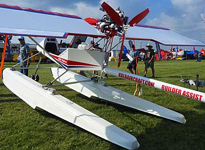 Kolb Firefly Ultralight Aircraft on Puddle Jumper Floats: Close to